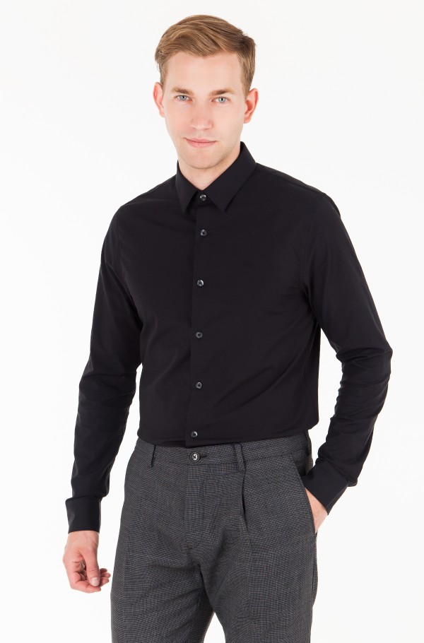 CKJ LOGO SLIM STRETCH SHIRT