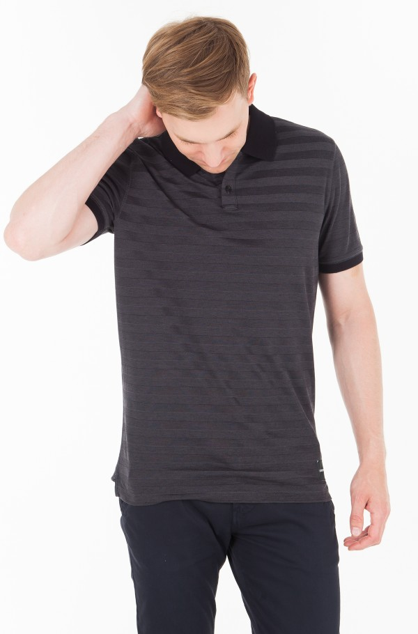 TWO TONE PIQUE SLIM POLO