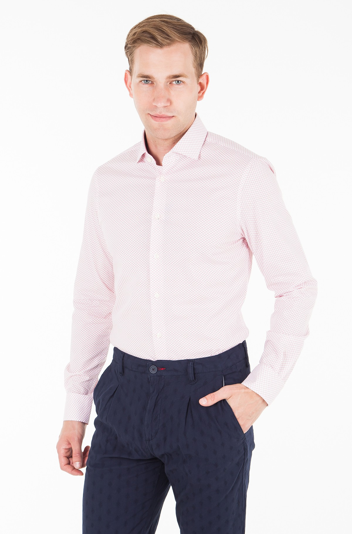 Marškiniai STRETCH PRINT CLASSIC SLIM SHIRT-full-1