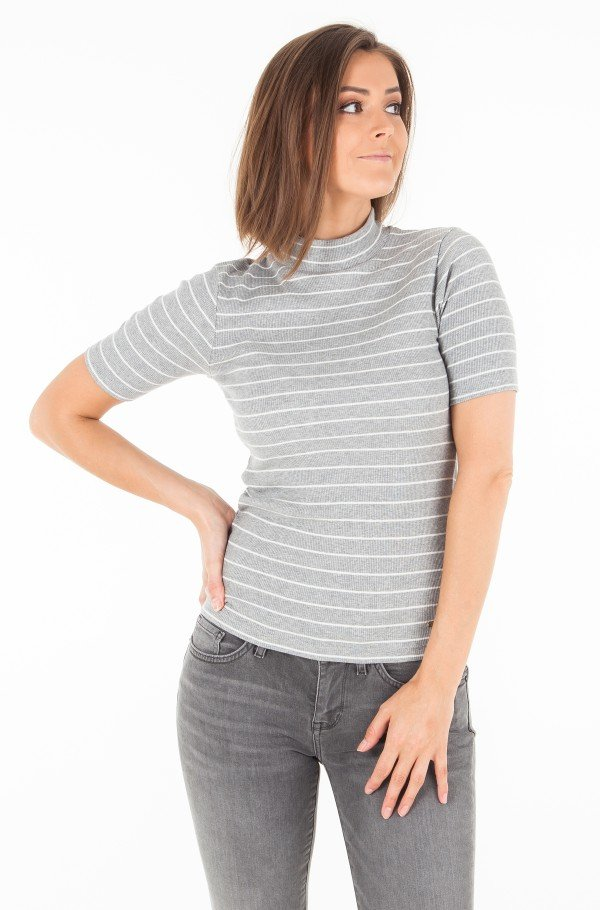 ELENA EASY HIGH-NK RIB TEE