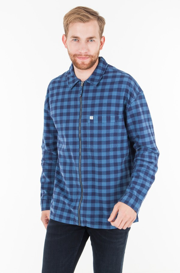TJM CHECK ZIPPER SHIRT