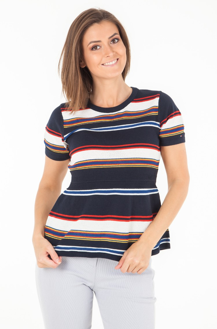 4b5202249 Knitted blouse VICTORIA STP PEPLUM TOP Tommy Hilfiger, Womens ...