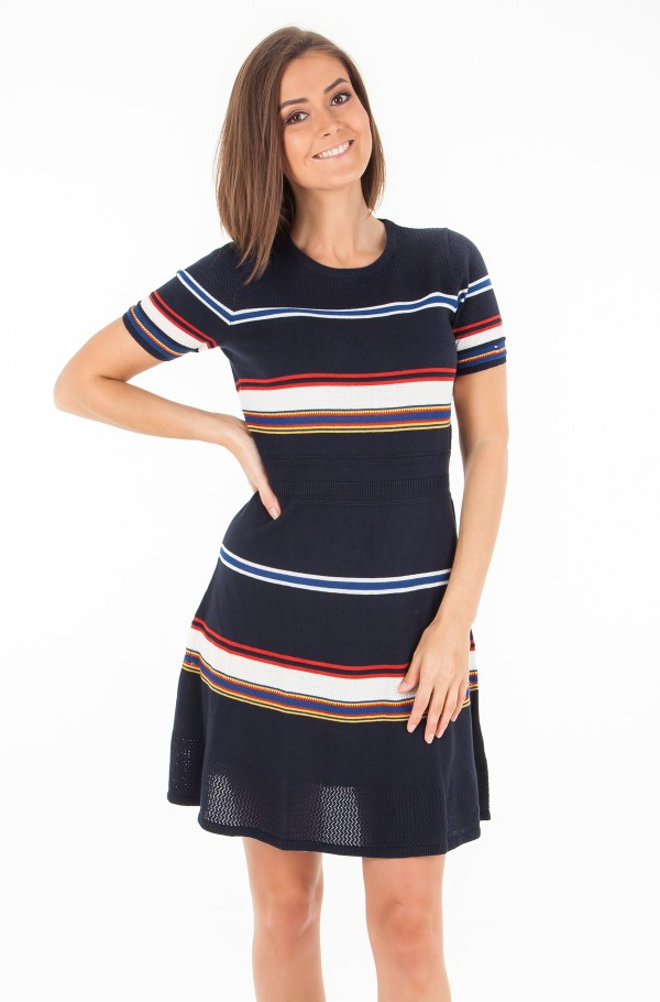 VICTORIA FIT & FLARE DRESS