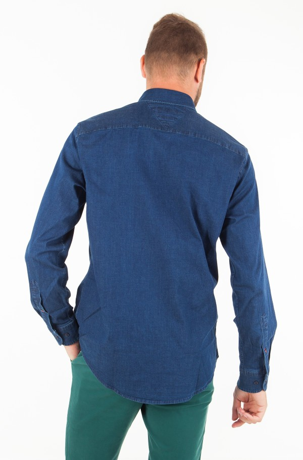 STRETCH DENIM SHIRT-hover