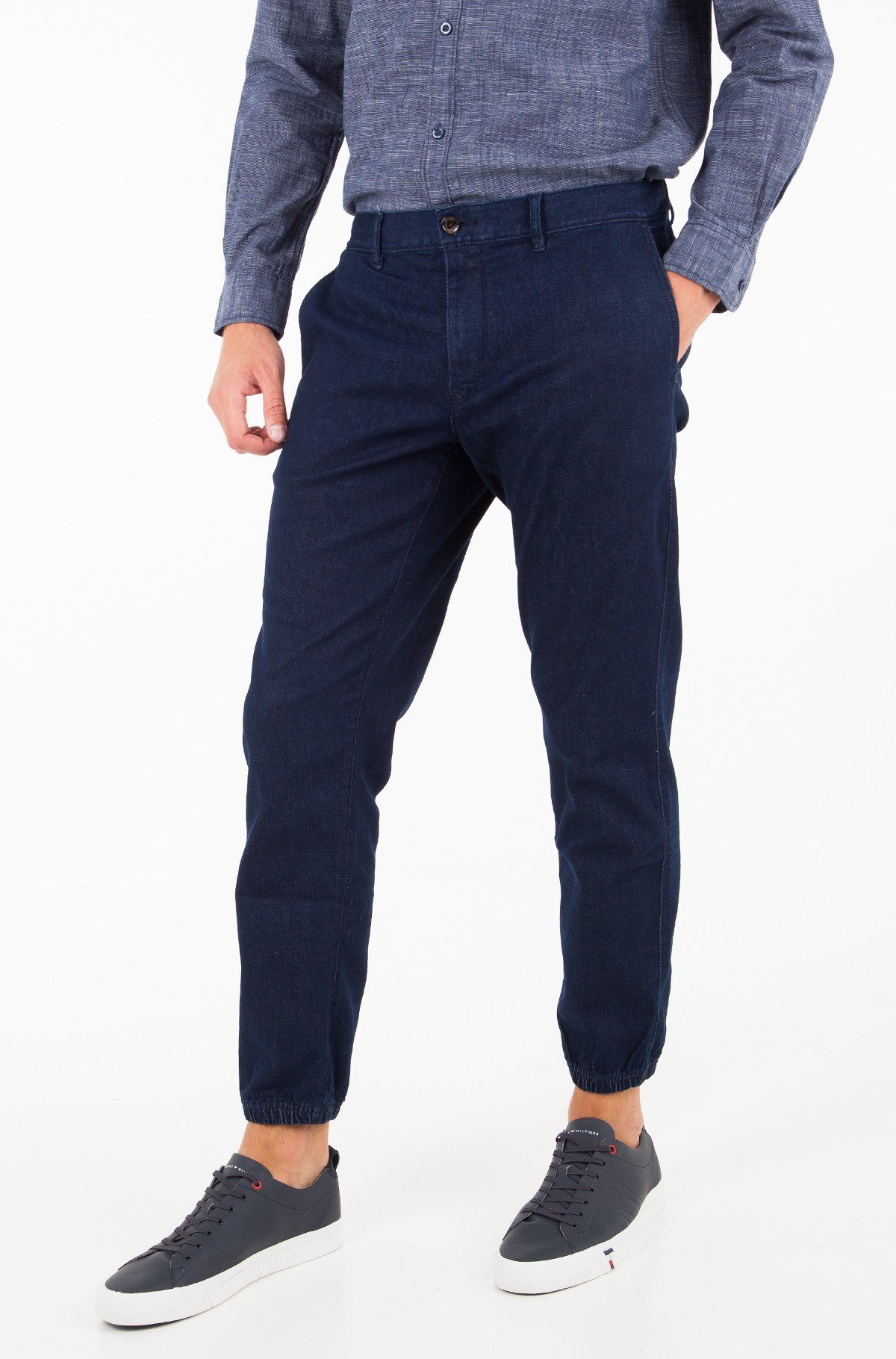 Teksapüksid STRAIGHT ACTIVE PANT STR INDIGO-full-1