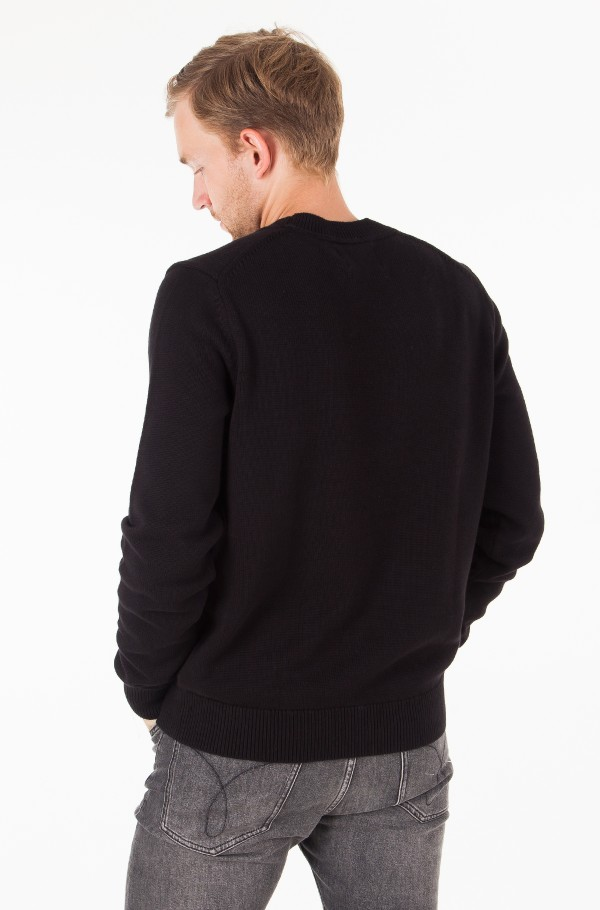 MONOGRAM LOGO COTTON SWEATER-hover
