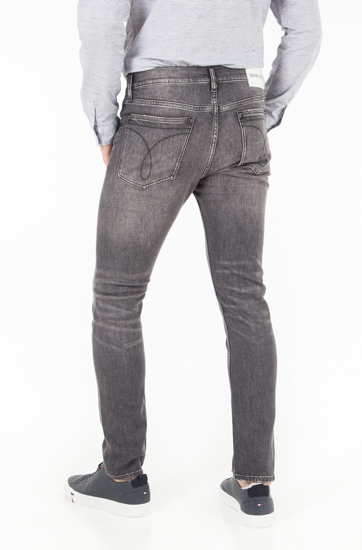 Džinsinės kelnės CKJ 016: Skinny West - Shattuca Black-full-2