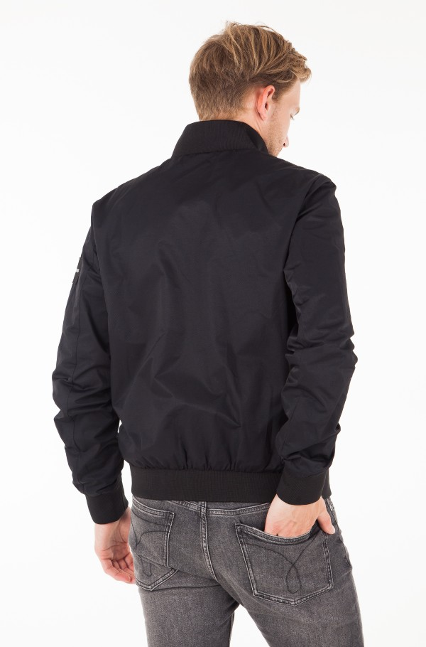 DOUBLE SIDE POCKET ZIP THROUGH BOMBER-hover