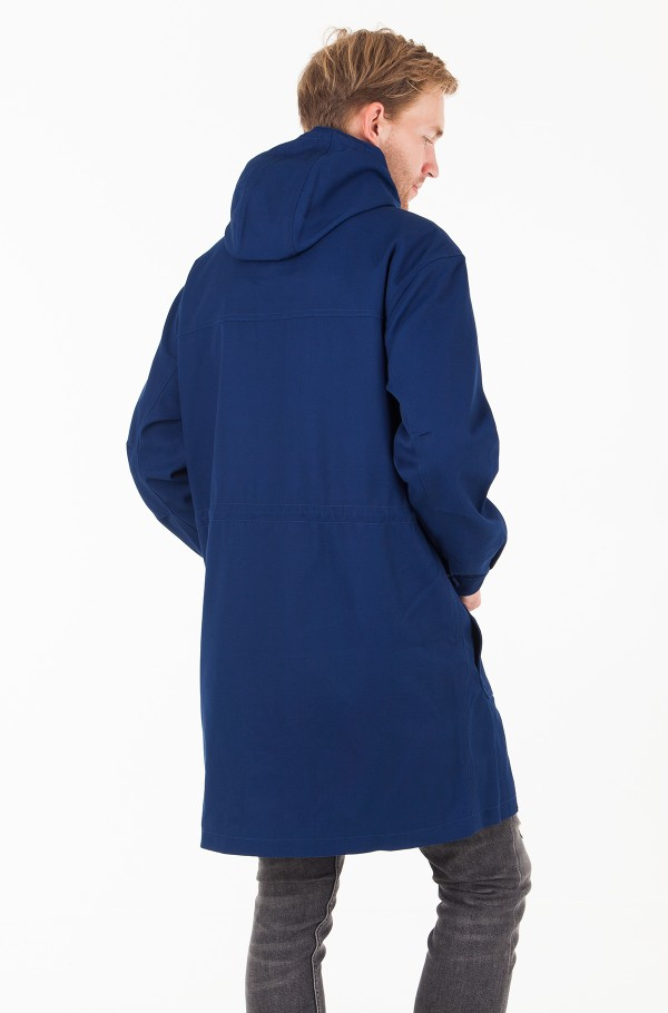 MID LENGTH ZIP THROUGH HOODED PARKA-hover