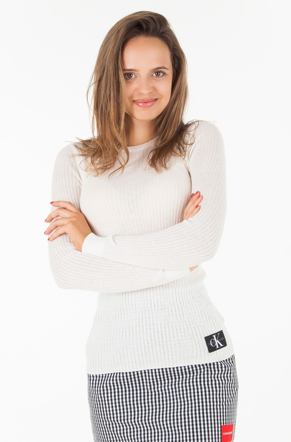 RIB SILK BLEND SWEATER
