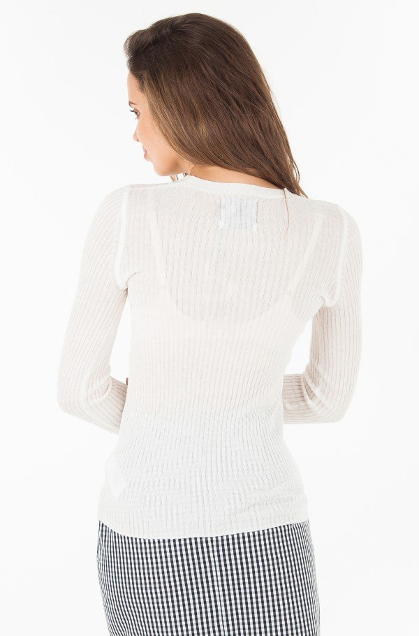 RIB SILK BLEND SWEATER-hover