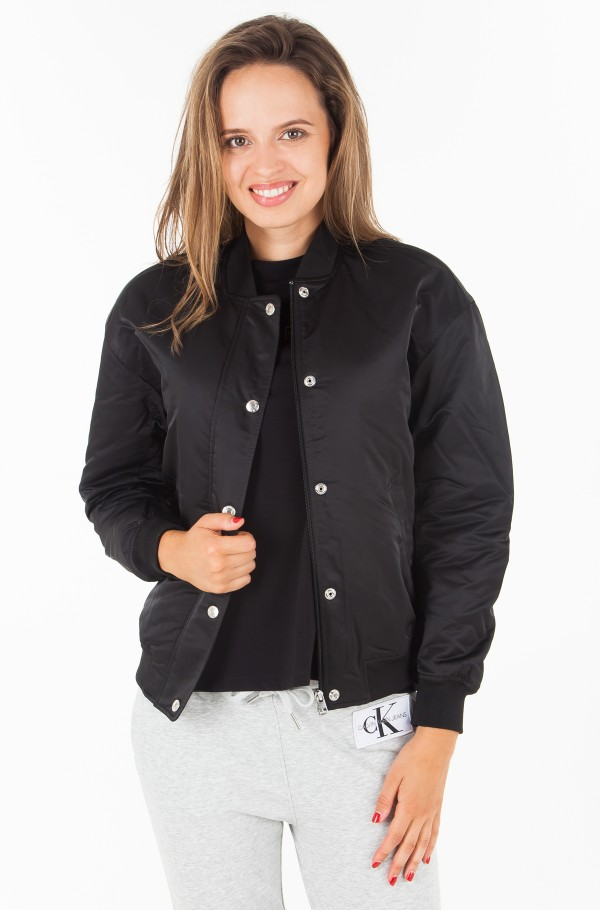 SNAP BUTTON NYLON BOMBER