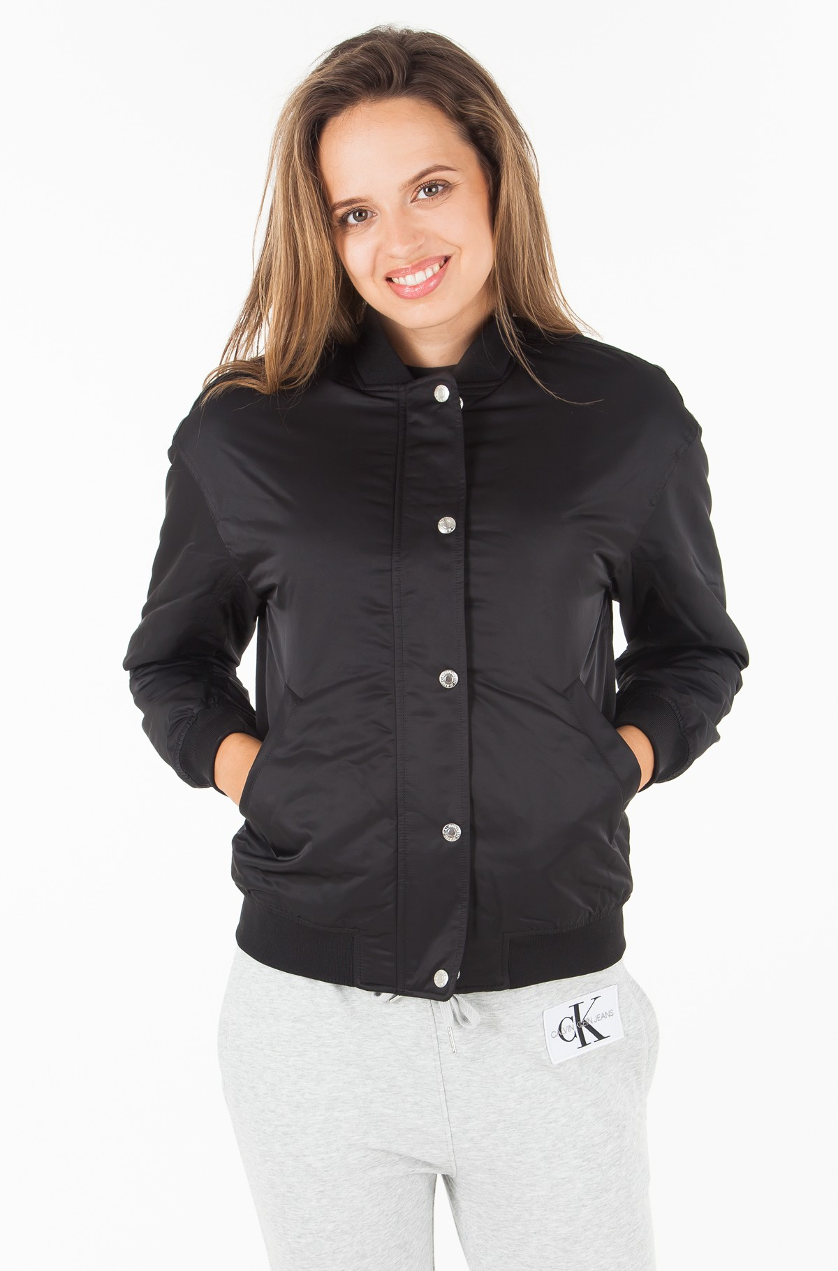 Striukė SNAP BUTTON NYLON BOMBER-full-2