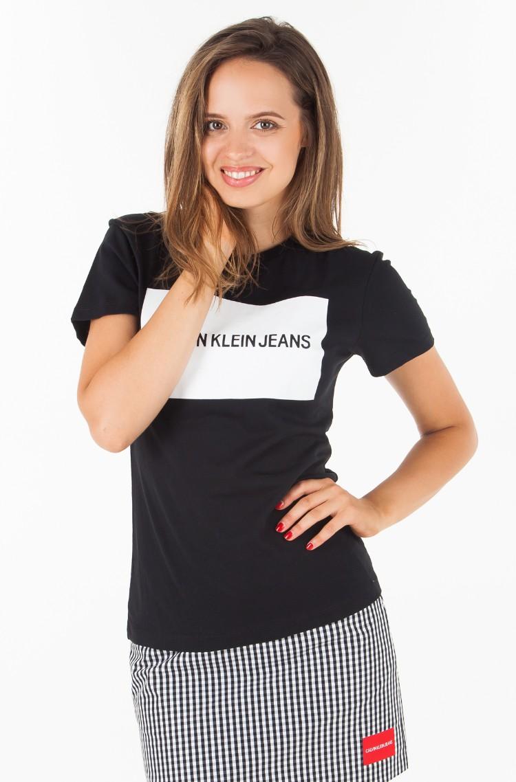 22cdefe0fe87 T-shirt INSTITUTIONAL BOX LOGO REGULAR FIT TEE Calvin Klein, Womens ...