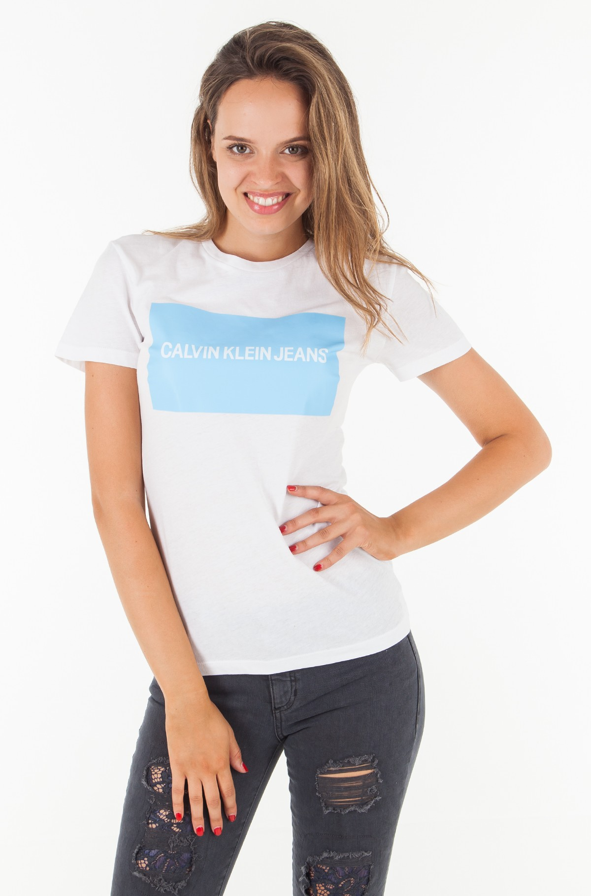 T-shirt INSTITUTIONAL BOX LOGO REGULAR FIT TEE-full-1