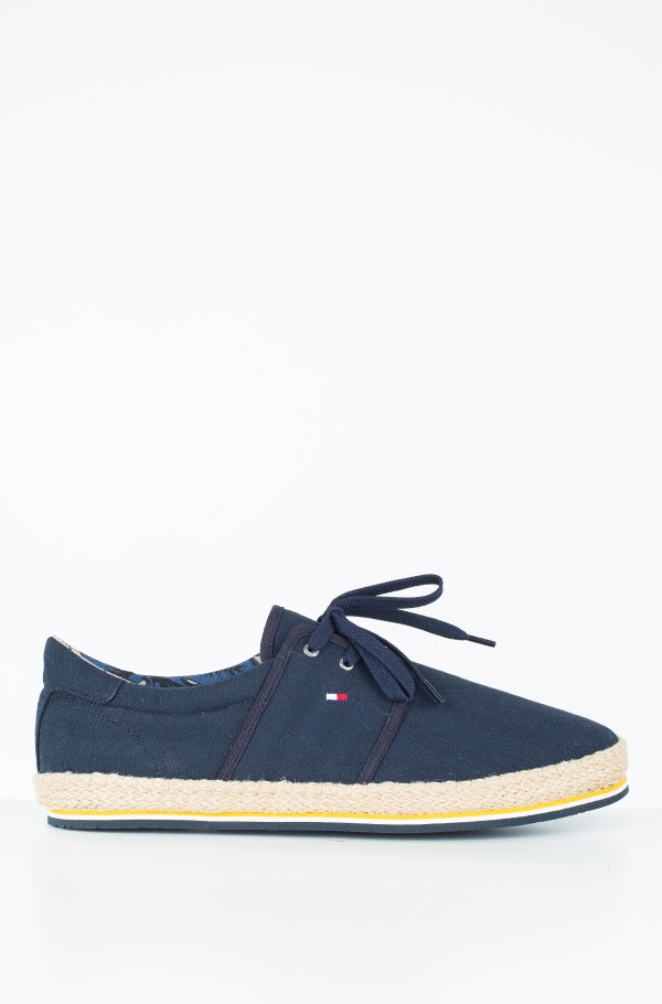 CANVAS LACE UP ESPADRILLE