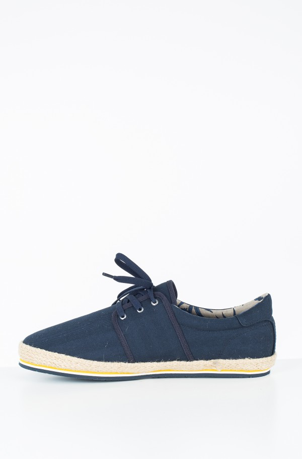 CANVAS LACE UP ESPADRILLE-hover
