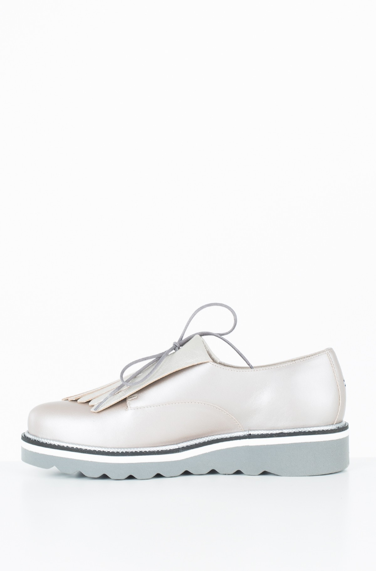 Vabaaja jalanõud Pearlized Leather Lace up Shoe-full-2
