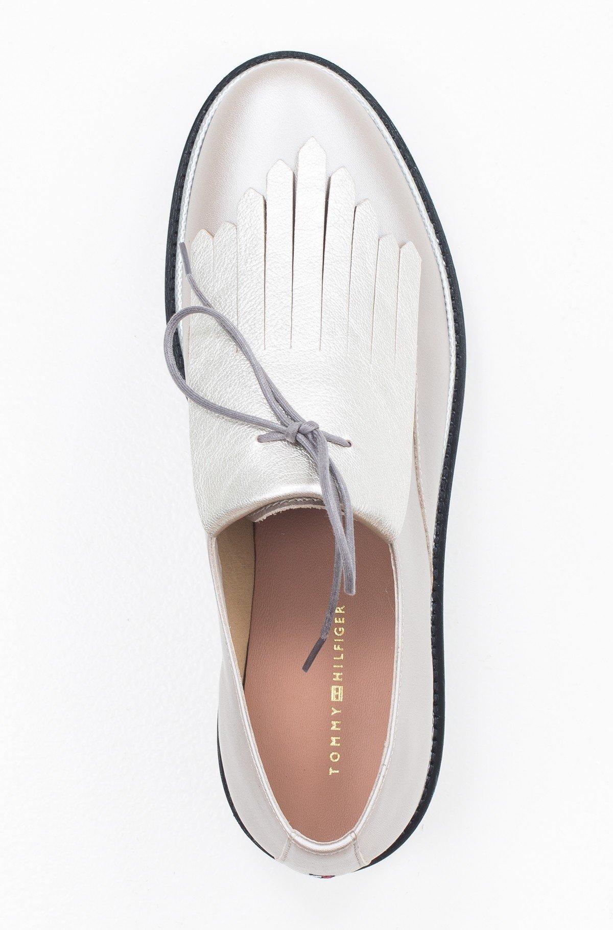 Vabaaja jalanõud Pearlized Leather Lace up Shoe-full-3
