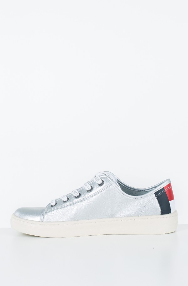 TOMMY JEANS LIGHT LEATHER LOW-hover