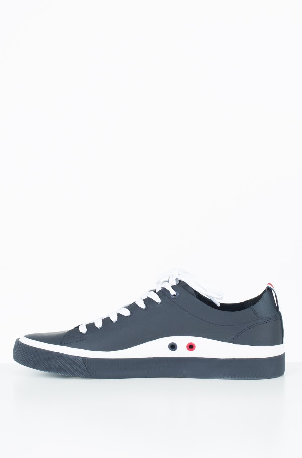 UNLINED LOW CUT LEATHER SNEAKER-hover