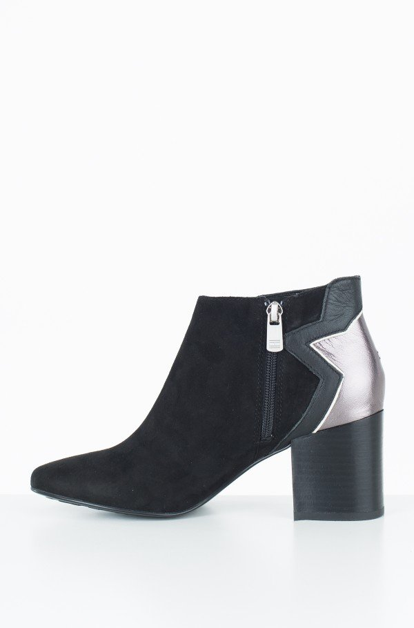 ELEVATED SUEDE HEELED BOOTIE-hover