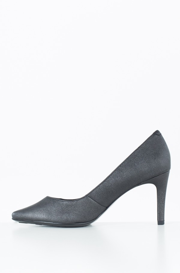 METALLIC LEATHER PUMP-hover