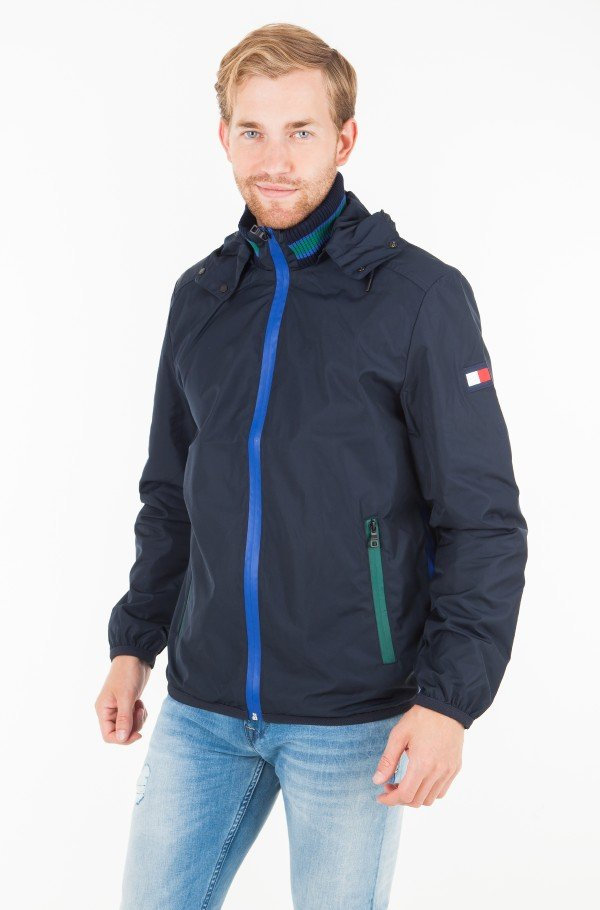 COLOURED ZIP HOODED JACKET