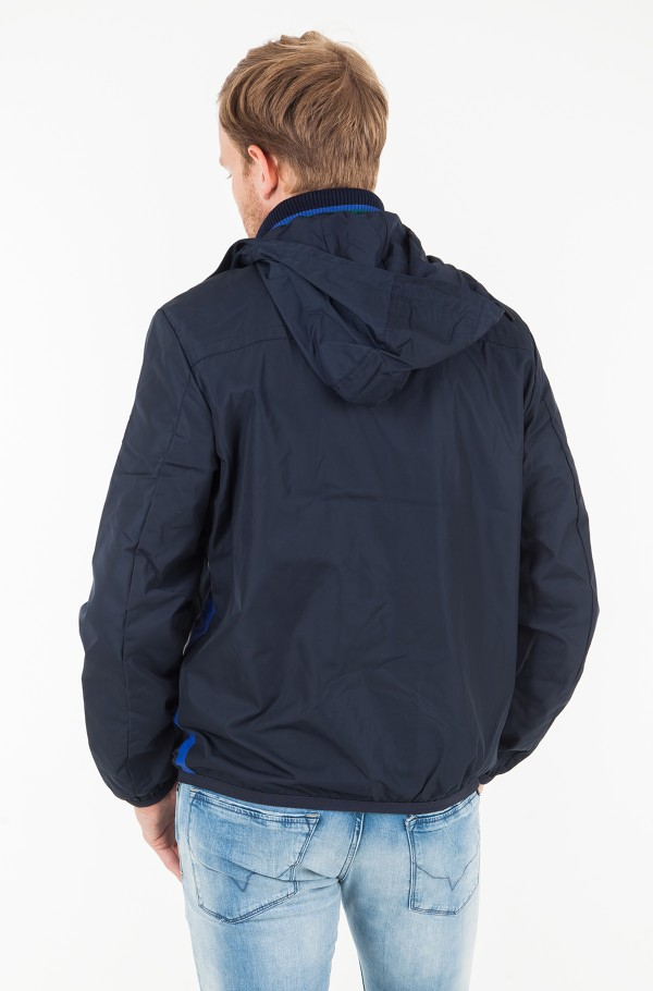 COLOURED ZIP HOODED JACKET-hover