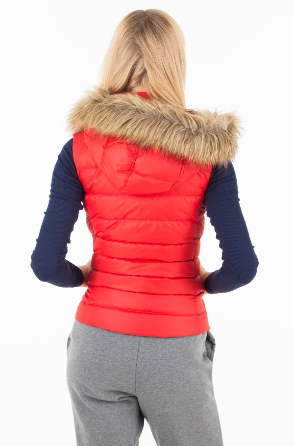 TJW ESSENTIAL HOODED DOWN VEST-hover