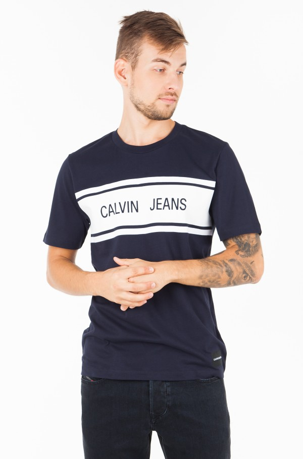 CALVIN JEANS STRIPE REGULAR  TEE