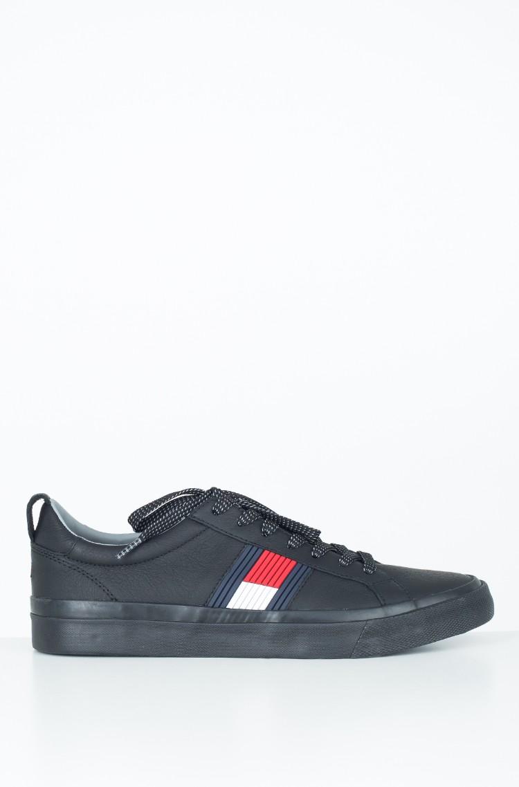 9805b8de8f1cc0 Casual shoes FLAG DETAIL LEATHER SNEAKER Tommy Hilfiger