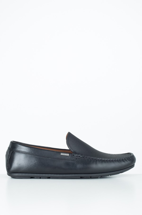 EMBOSSED LEATHER MIX LOAFER