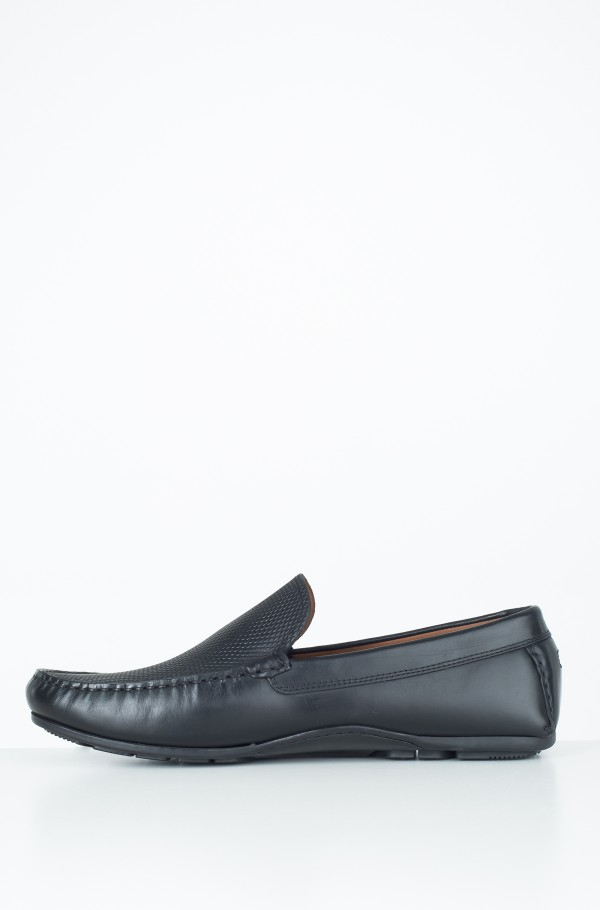EMBOSSED LEATHER MIX LOAFER-hover