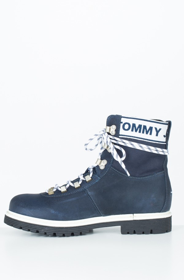 TOMMY JEANS CANVAS SUEDE BOOT-hover