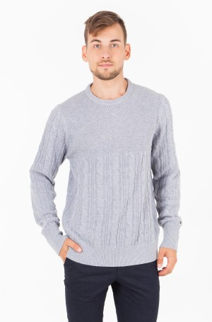 Sviiter MIXED CABLE CNECK SWEATER-1