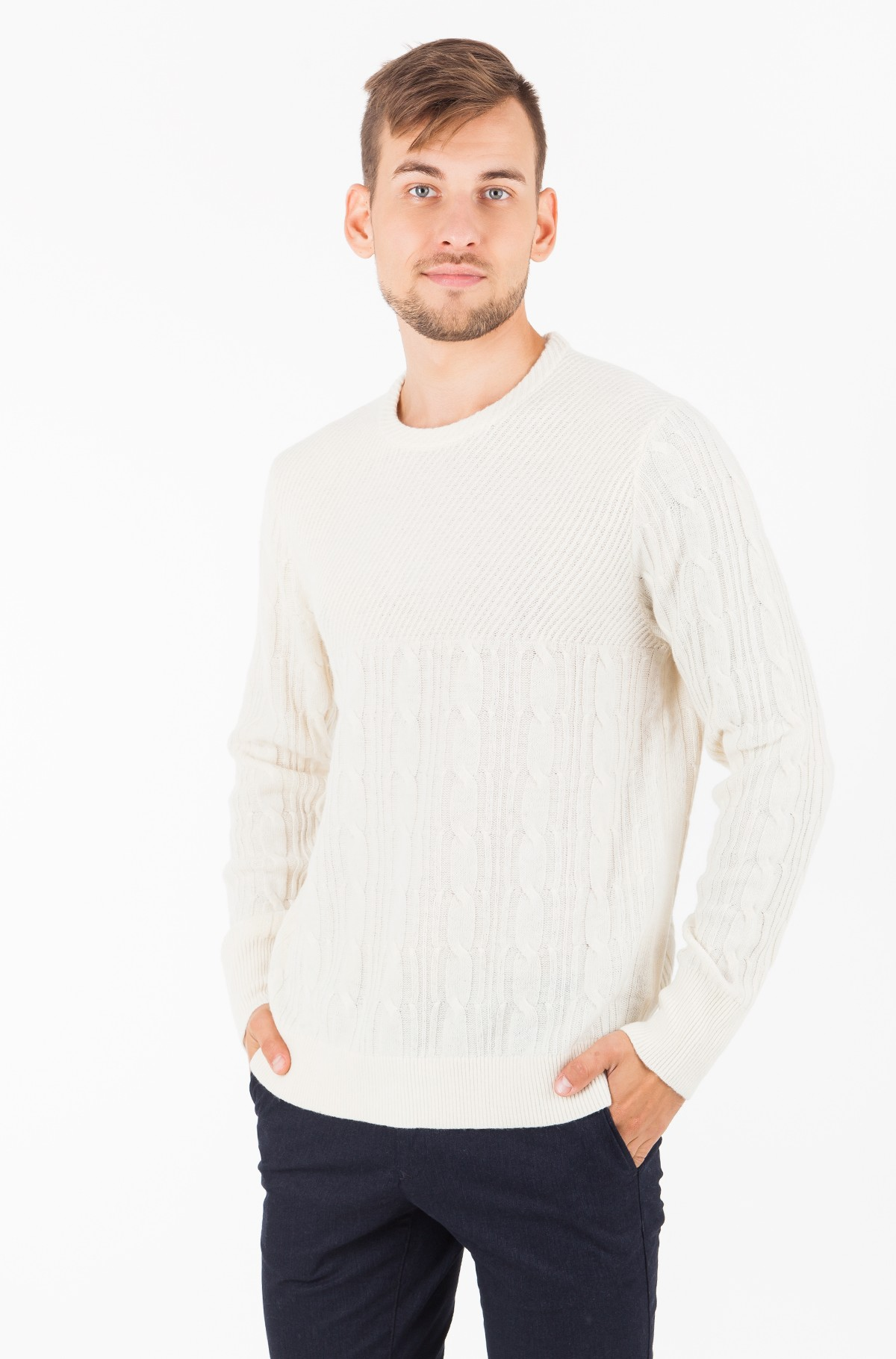 Džemperis MIXED CABLE CNECK SWEATER-full-1