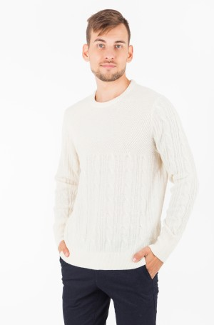 Džemperis MIXED CABLE CNECK SWEATER-1