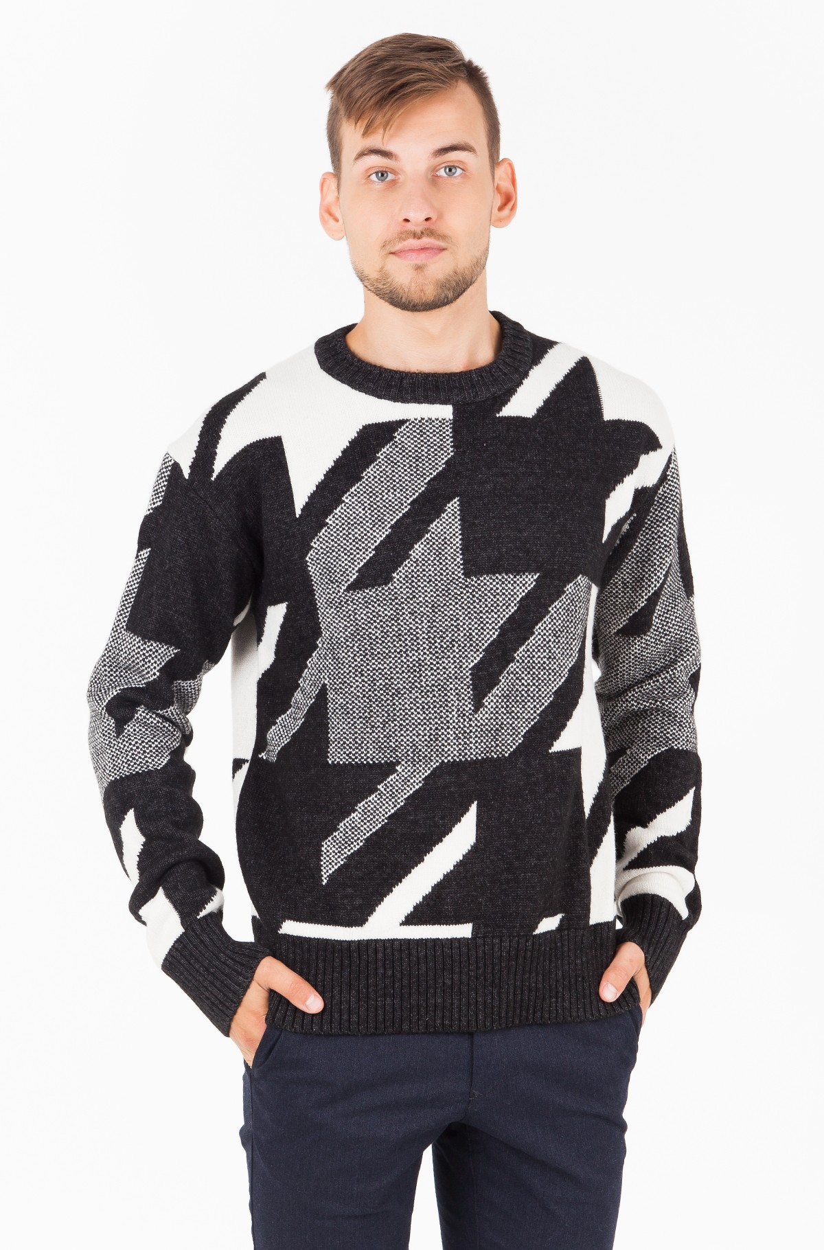 Sweater HOUNDSTOOTH OVERSIZED SWEATER-full-1