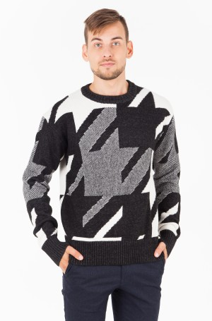 Sweater HOUNDSTOOTH OVERSIZED SWEATER-1