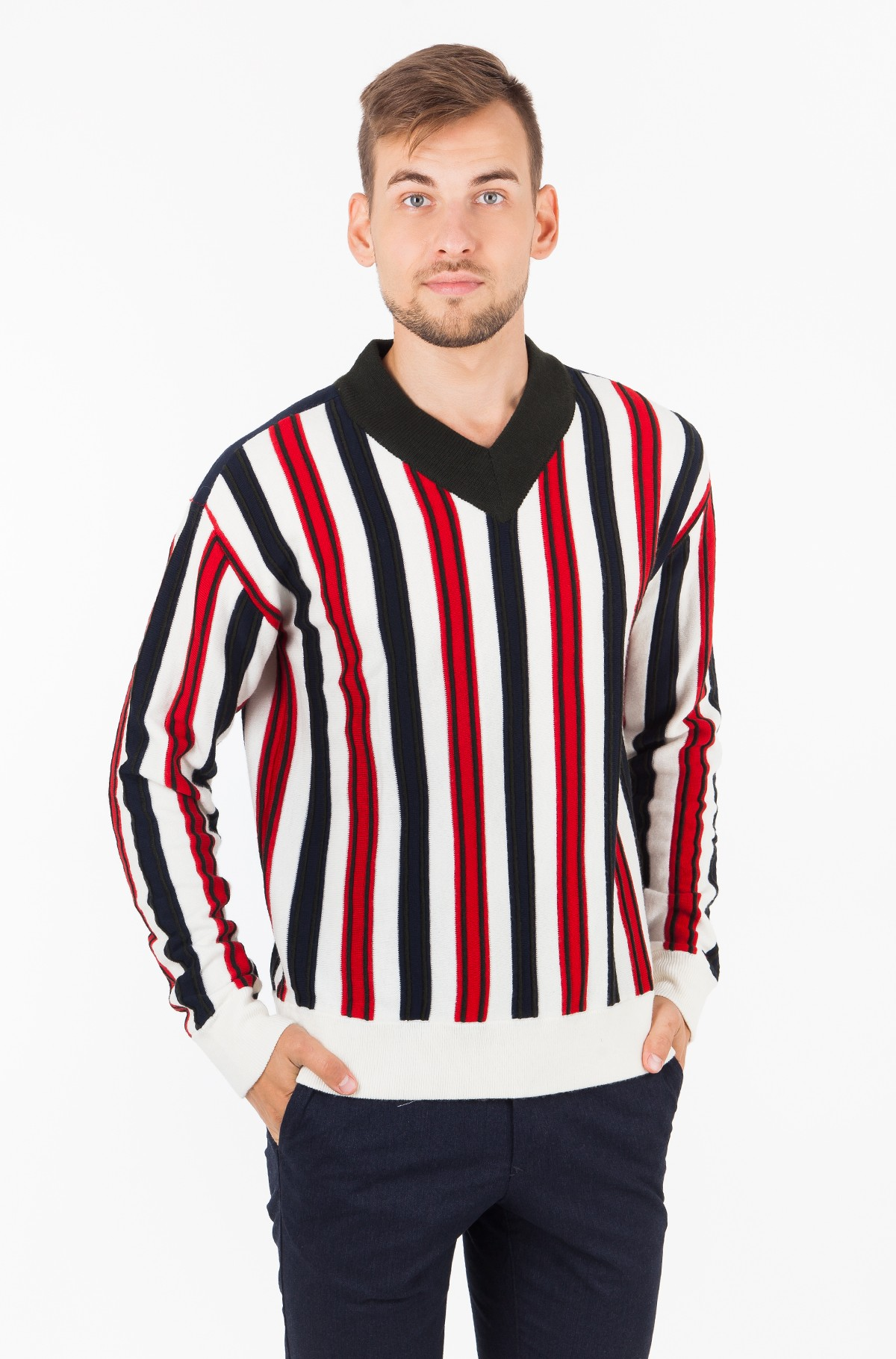 Sweater STRIPE PATCHED WORK RELAXED VNK-full-1