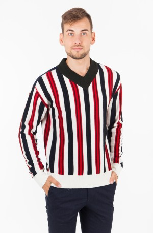 Sweater STRIPE PATCHED WORK RELAXED VNK-1
