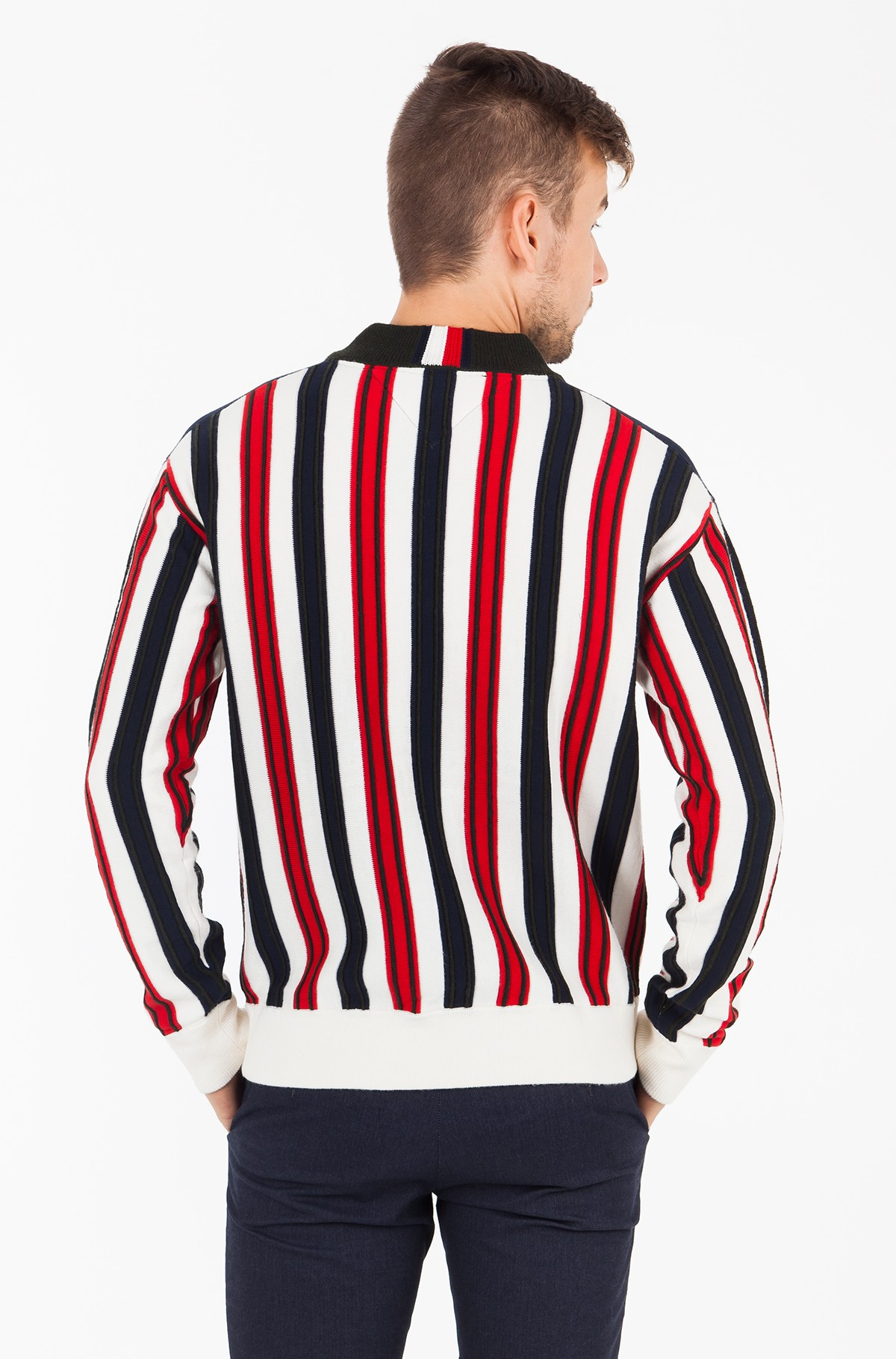 Sweater STRIPE PATCHED WORK RELAXED VNK-full-2