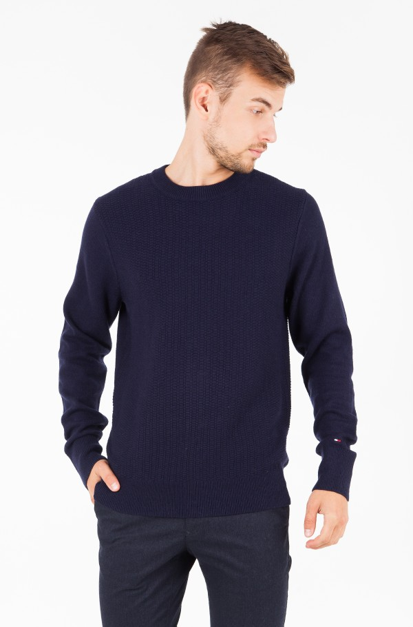 WOOL BLEND STRUCTURED CNECK