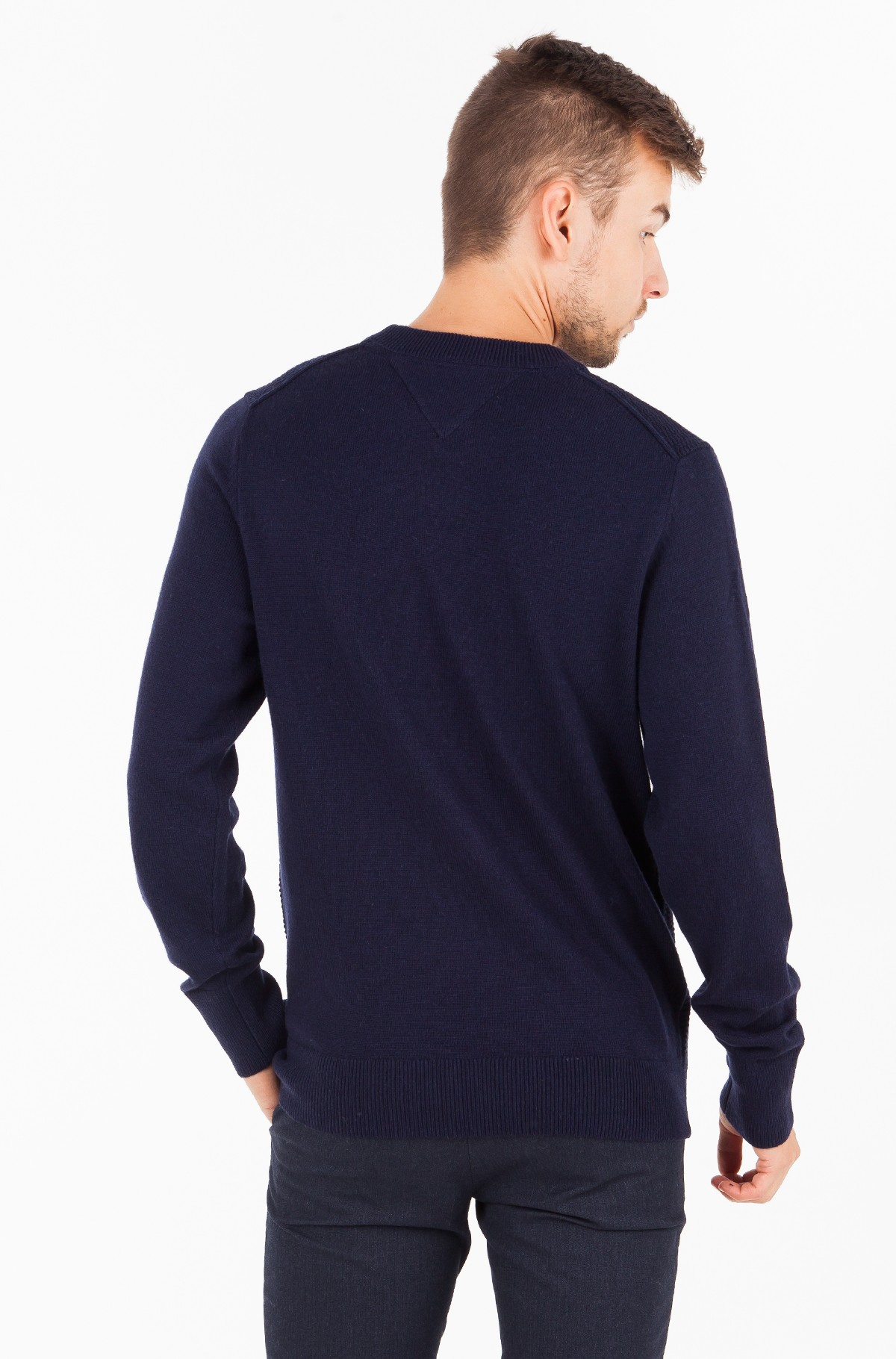 Sweater WOOL BLEND STRUCTURED CNECK-full-2