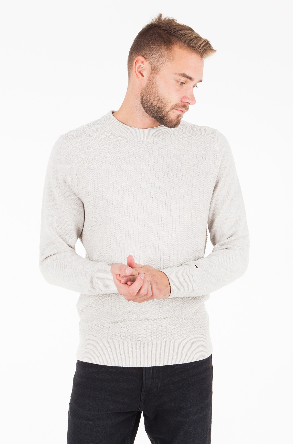 Džemperis WOOL BLEND STRUCTURED CNECK-full-1