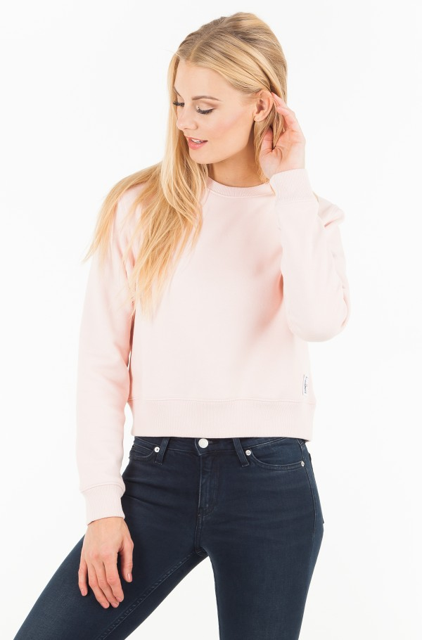 MONOGRAM BADGE RELAXED CREW NECK