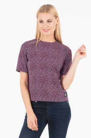 Blūze FLOWER PRINT MID SLEEVE TOP-1