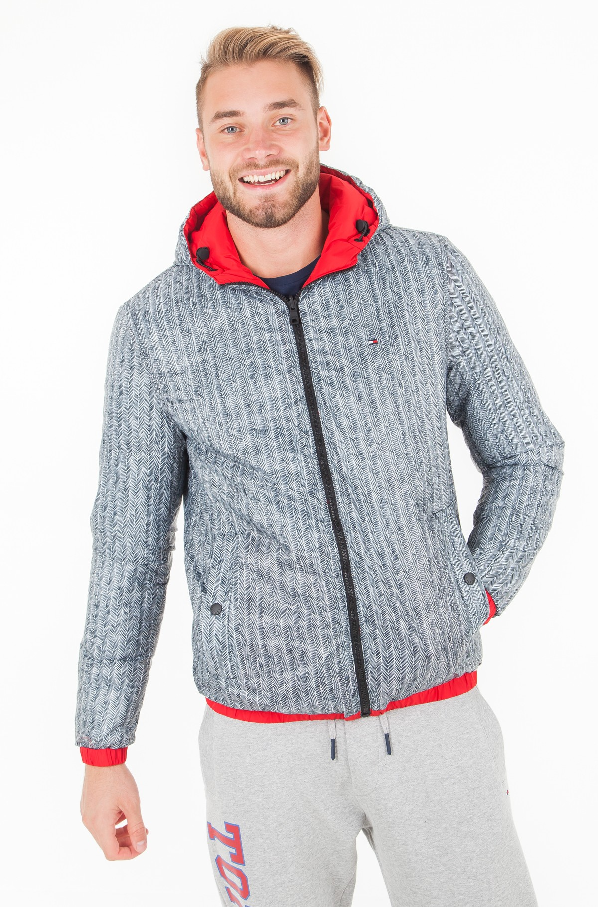 Jaka REVERSIBLE HOODED BOMBER-full-3