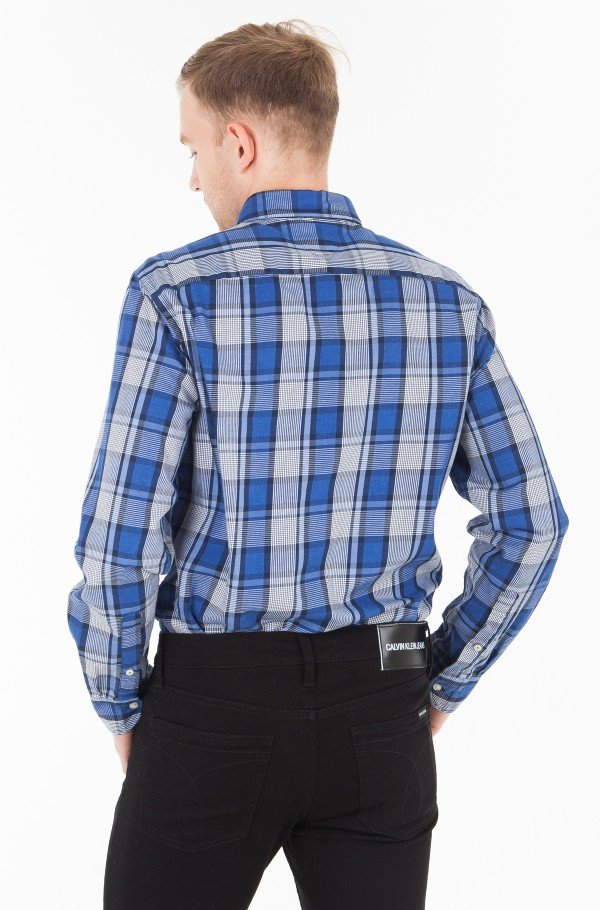 MIDSCALE HEATHERED CHECK SHIRT-hover